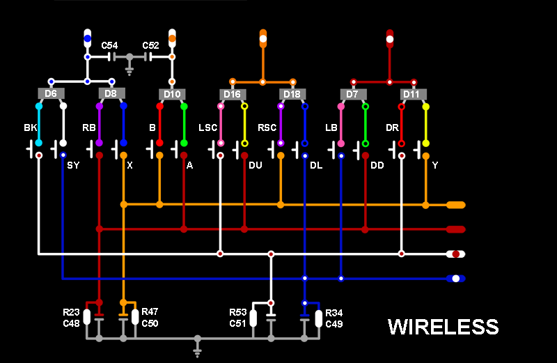 Wiring diagram xbox 360 controller travelworkfo wireless matrix traces wiring diagram ccuart Image collections