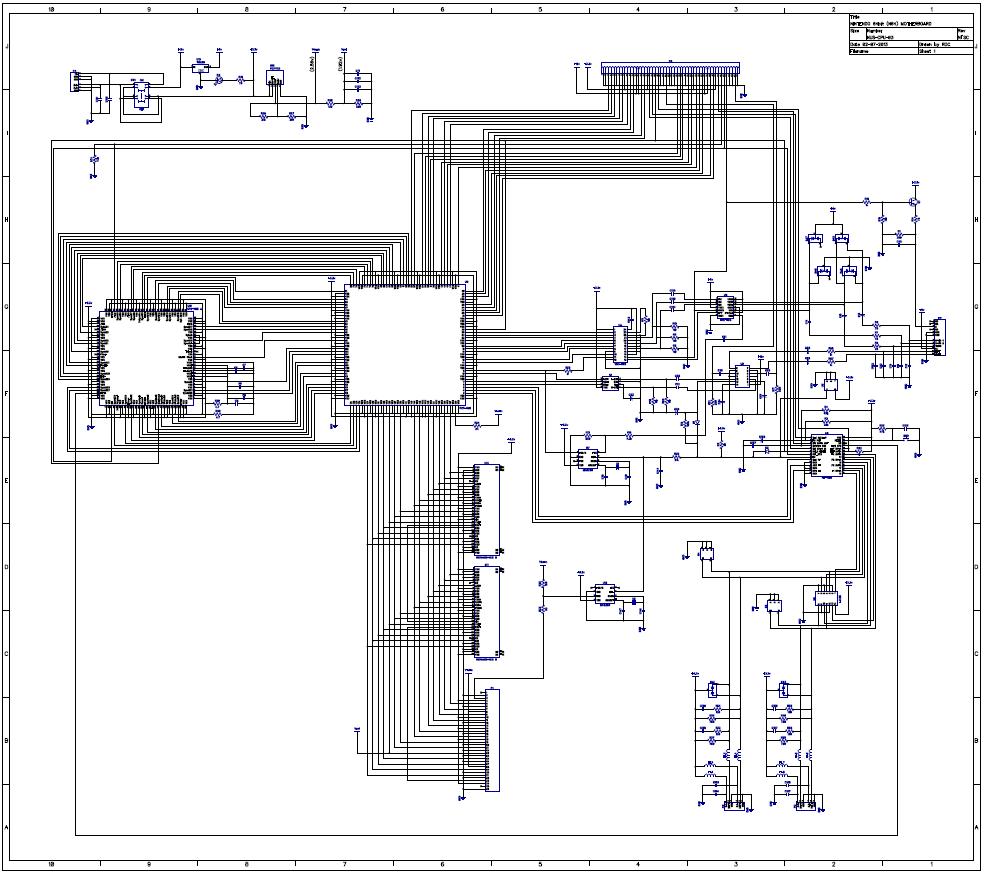 Schematic NUS-CPU-03-04, NTSC (1996,1997)