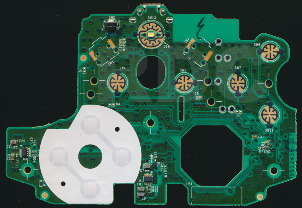 [SCHEMATICS_4ER]  XB1 Controller PCB Scans, Traces and Info - 1708